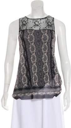 Jean Paul Gaultier Lace-Trimmed Paisley Top
