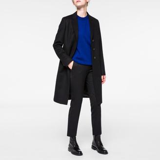 Women's Black Wool-Cashmere Epsom Coat $925 thestylecure.com
