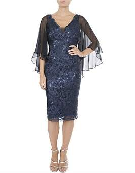 Anthea Crawford Midnight Lace Dress