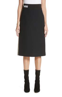 Fendi Wool & Silk Gazar Pencil Skirt