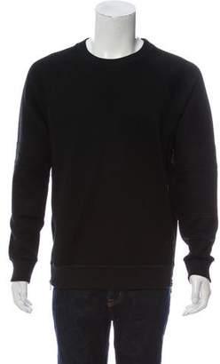 Givenchy Crew Neck Zip-Trimmed Sweatshirt