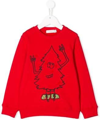 Stella McCartney christmas tree printed sweatshirt