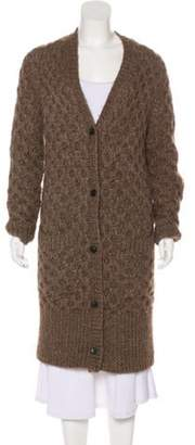 Michael Kors Cable Knit V-Neck Cardigan brown Cable Knit V-Neck Cardigan