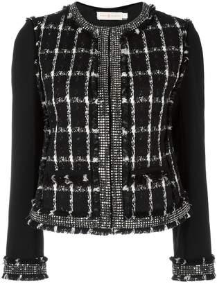 Tory Burch round neck embellished jacket