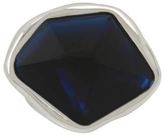 Robert Lee Morris Faceted Blue Stone Geo Sculptural Ring - Size 7.5