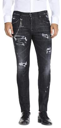 DSQUARED2 Slim Fit Jeans in Distressed Black