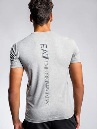 Emporio Armani Ea7 Back Graphic T-Shirt in Grey