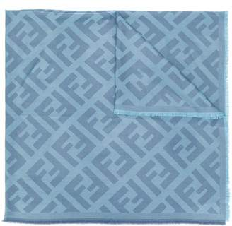 Fendi FF motif knit scarf