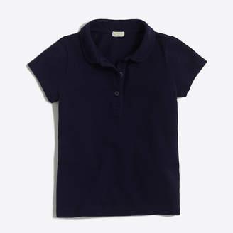 J.Crew Factory Girls' Peter Pan collar piqué polo shirt