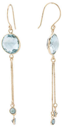 Made In India 14k Gold Sky Blue London Blue Topaz Earrings