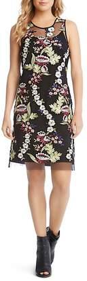 Karen Kane Sleeveless Embroidered-Overlay Dress $199 thestylecure.com