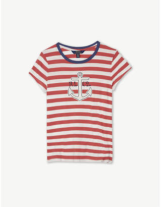 Ralph Lauren Striped anchor cotton T-shirt 6-14 years