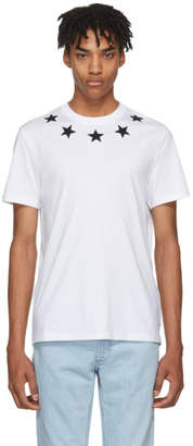 Givenchy White and Black Stars T-Shirt