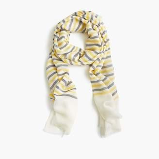 J.Crew Lightweight wool scarf in stripe