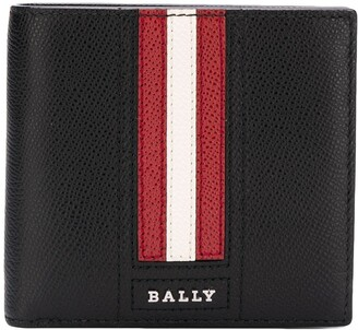 Bally logo stripe wallet