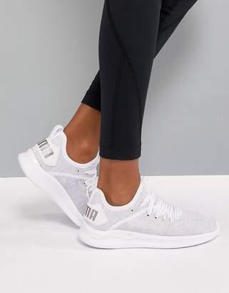 Puma Ignite Flash EvoKnit Sneakers In White