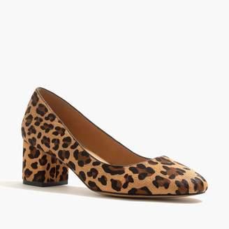 185d5c03bbd J.Crew Bryn calf hair mid-block heels