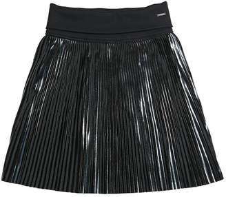 Givenchy Acetate Pleated Skirt W/ Vinyl Effect