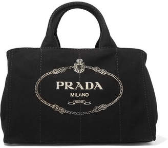 Prada - Giardiniera Large Printed Canvas Tote - Black $920 thestylecure.com