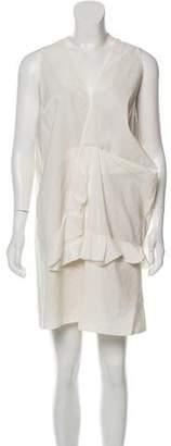Marni Sleeveless Linen-Blend Dress