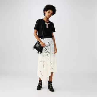 Maje Long skirt with perforated pleats