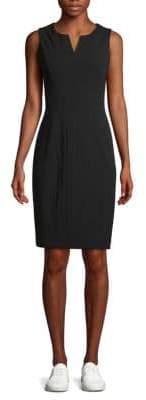 Calvin Klein Split Neck Sheath Dress