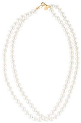 Stella McCartney Faux Pearl Double Strand Necklace