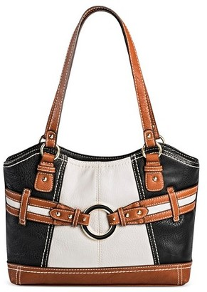 Bolo Women's Faux Leather Tote Handbags - Black/White $44.99 thestylecure.com