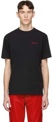 Eytys Black Purple Velvet Smith T-Shirt