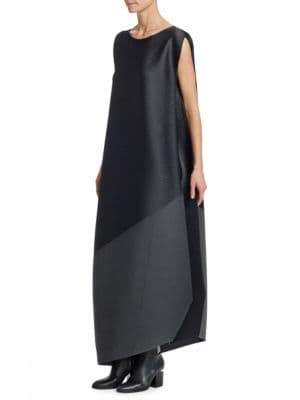 Issey Miyake Horizon Pleats Tunic Maxi Dress