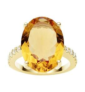 Logan Jan 18Ct Citrine Diamond Bianca Ring