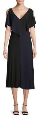 Derek Lam Handkerchief Cold-Shoulder Dress