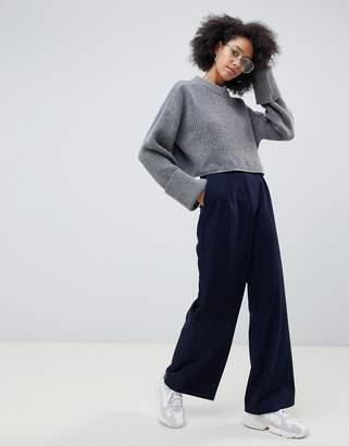 Asos (エイソス) - Asos Design ASOS DESIGN wide leg pants with pleat detail