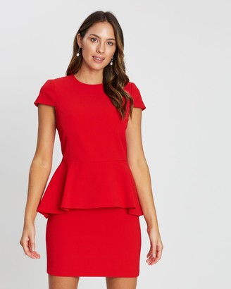 Alice + Olivia Ember Peplum Fitted Dress