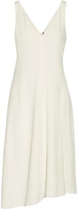 Theory - Asymmetric Crepe Dress - Cream $365 thestylecure.com
