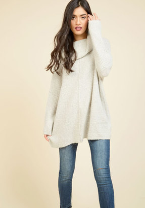 Dreamers by Debut Throw in the Cowl Sweater in Mist $54.99 thestylecure.com