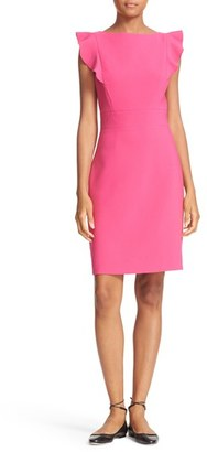 Women's Kate Spade New York Flutter Sleeve Sheath Dress $298 thestylecure.com