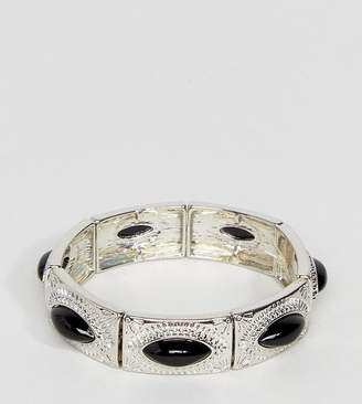 Asos Exclusive Engraved Stone Stretch Bracelet