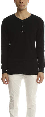 3.1 Phillip Lim Incomplete Waffle Henley LS
