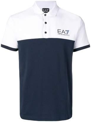 Emporio Armani Ea7 logo contrast polo shirt