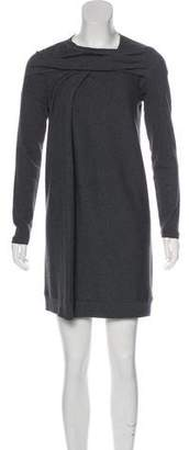 Brunello Cucinelli Long Sleeve Rib Knit Dress