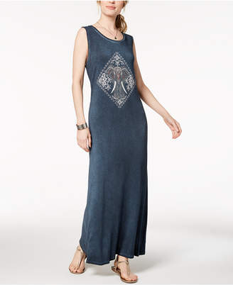 Style&Co. Style & Co Graphic Maxi Dress, Created for Macy's