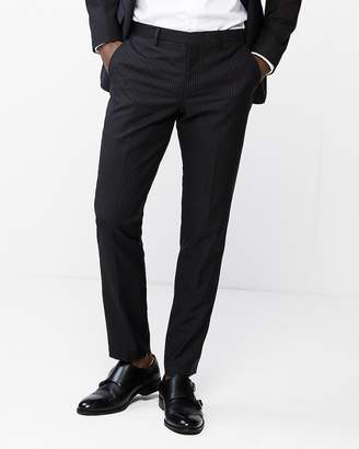 Express Extra Slim Double Stripe Wool-Blend Suit Pant