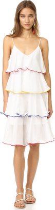 Lisa Marie Fernandez Midi Tier Flounce Dress $995 thestylecure.com
