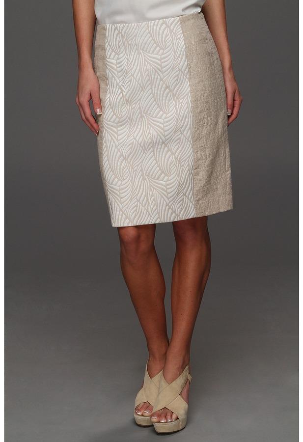 Calvin Klein Mixed Media Pencil Skirt