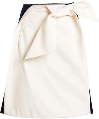 DELPOZO Cotton Bow Skirt