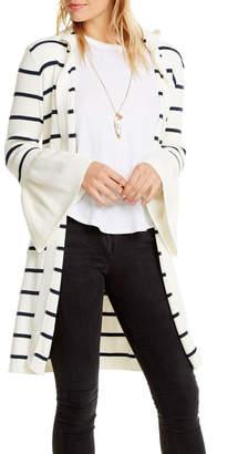 Chaser Peplum Hooded Sweater