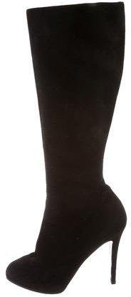 Christian Louboutin Christian Louboutin Suede Knee-Length Boots