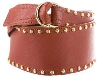 Saint Laurent Leather Embellished Waist Belt