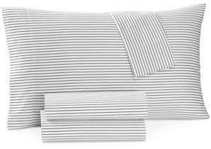 Charter Club Closeout! Damask Designs Printed Pinstripe Queen 4-pc Sheet Set, 500 Thread Count, Created for Macy's Bedding